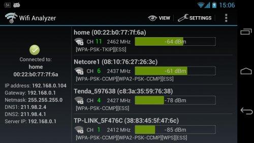 Скриншот для Wifi Analyzer - 2