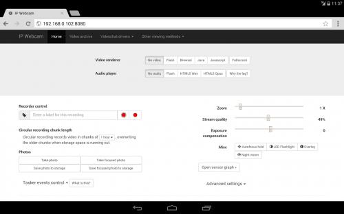 Скриншот для IP Webcam - 3