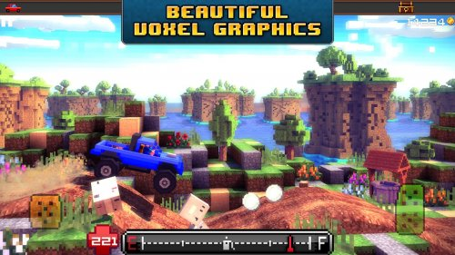 Скриншот для Blocky Roads - 3
