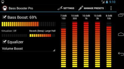 Скриншот для Bass Booster - 3