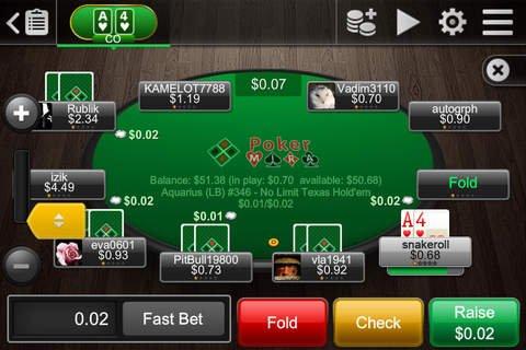 Скриншот для Poker Mira Mobile - 2