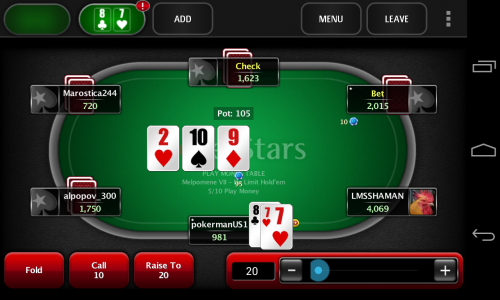 Скриншот для PokerStars Mobile - 3