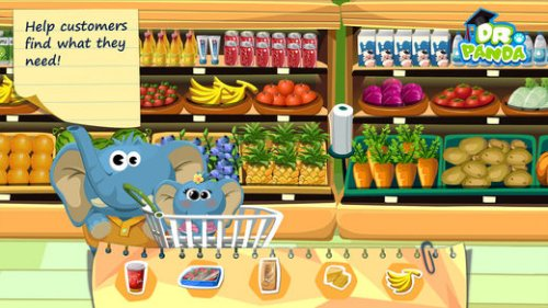 Скриншот для Супермаркет Dr. Panda - 3