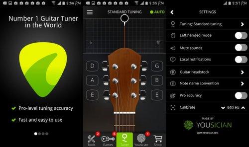Скриншот для Guitar Tuner - 1