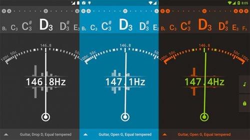 Скриншот для Guitar Tuner - 2