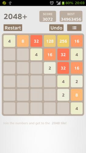 Скриншот для 2048+ - 1