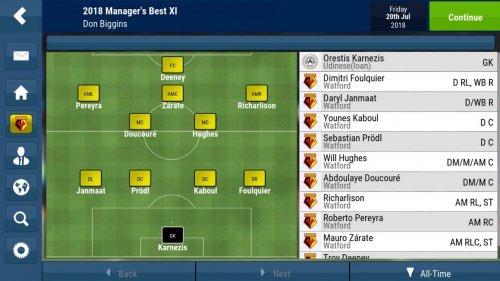 Скриншот для Football Manager Mobile 2018 - 2