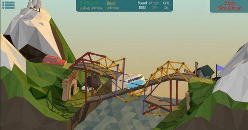 Скриншот для Poly Bridge - 2