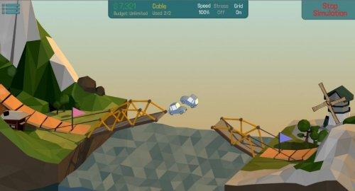 Скриншот для Poly Bridge - 3