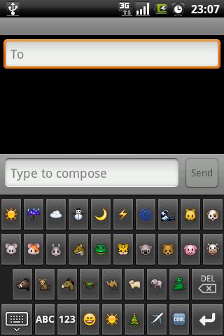 Скриншот для Emoji клавиатура - 2