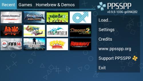Скриншот для Эмулятор PSP - 1
