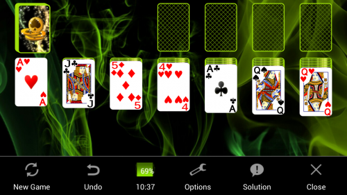 Скриншот для Пасьянс Косына - 1