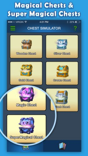 Скриншот для Clash Royale Chest Simulator - 3