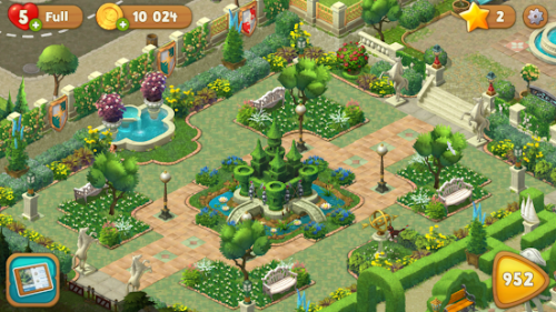 Скриншот для Gardenscapes - New Acres - 3