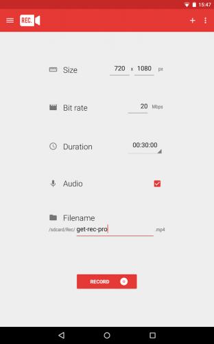Скриншот для Screen Recorder Pro - 2