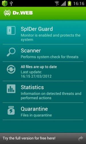 Скриншот для Dr.Web Pro - 1