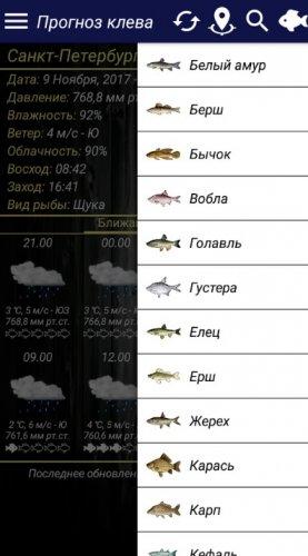 Скриншот для Прогноз клева - 3