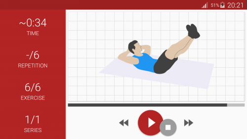 Скриншот для Abs workout - 3