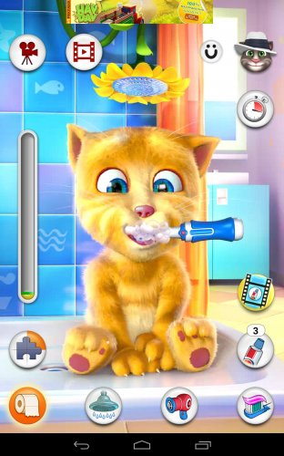 Скриншот для Talking Ginger - 3