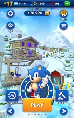 Скриншот для Sonic Dash - 2