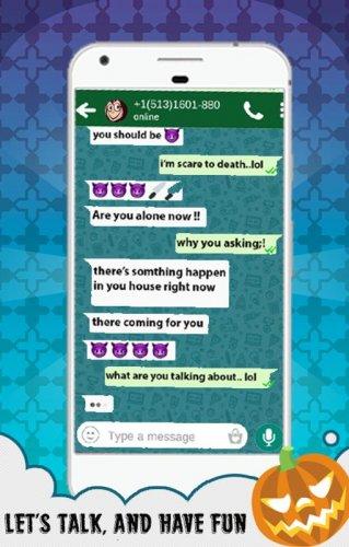 Скриншот для Creepy Call & Chat: Momo Game - 3
