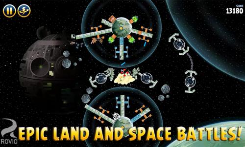 Скриншот для Angry Birds Star Wars - 3