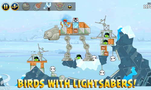 Скриншот для Angry Birds Star Wars - 1