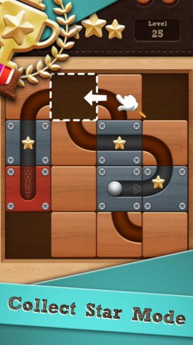 Скриншот для Roll the Ball: slide puzzle - 2