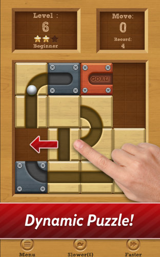 Скриншот для Roll the Ball: slide puzzle - 1