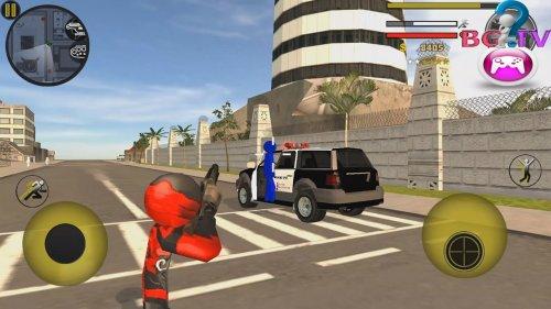 Скриншот для Stickman Rope Hero 2 - 1