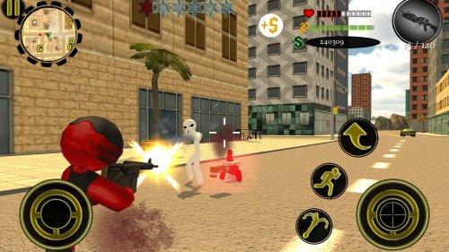 Скриншот для Stickman Rope Hero 2 - 2
