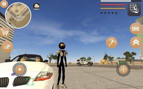 Скриншот для Stickman Rope Hero 2 - 3
