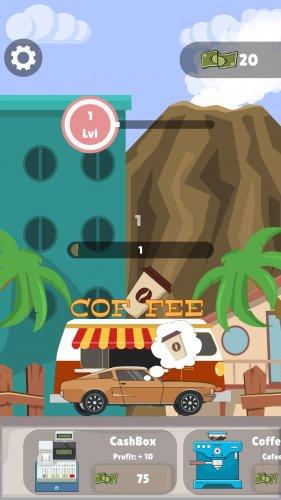 Скриншот для Idle Coffee Maker - Coffee Van Simulator Clicker - 2