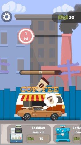 Скриншот для Idle Coffee Maker - Coffee Van Simulator Clicker - 1