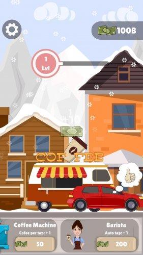 Скриншот для Idle Coffee Maker - Coffee Van Simulator Clicker - 3