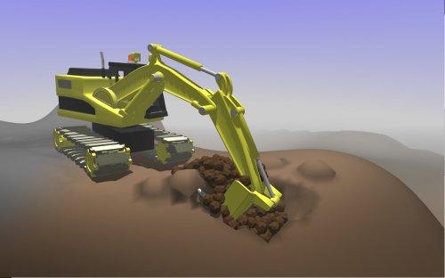 Скриншот для Little Crane 2: Mud Play - 1