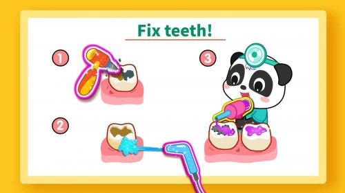Скриншот для Маленькая панда: уход за зубами - 2
