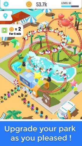 Скриншот для Idle Roller Coaster - 2