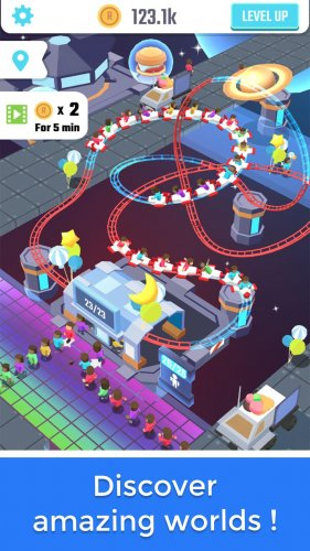 Скриншот для Idle Roller Coaster - 3