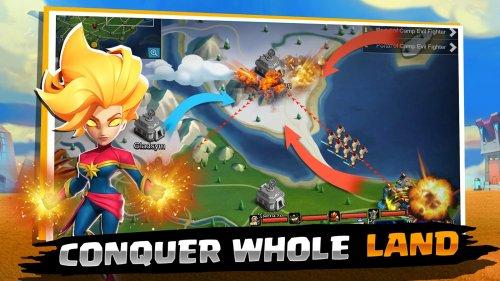 Скриншот для Clash of Kingdoms: Heroes War - 2