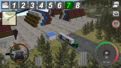 Скриншот для Mercedes Truck Simulator Lux - 1