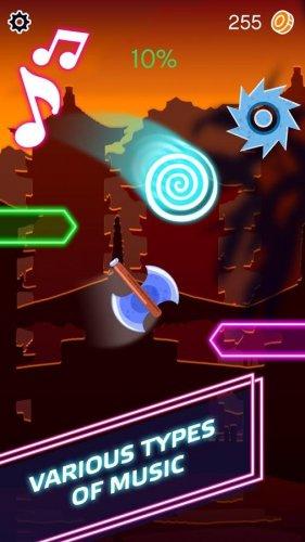 Скриншот для Beat Ball Hop: Jump Hit on Tiles - 1
