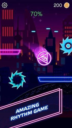 Скриншот для Beat Ball Hop: Jump Hit on Tiles - 3
