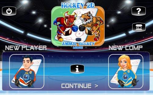 Скриншот для ICE HOCKEY 2D - 4x4 - 1