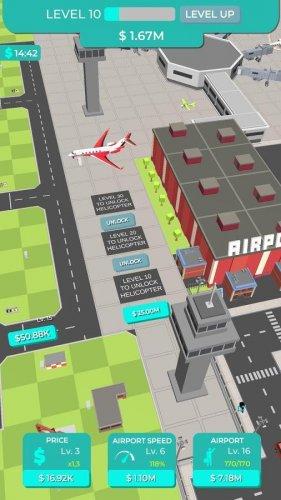 Скриншот для Idle Plane Game - Airport Tycoon - 2