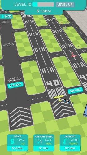 Скриншот для Idle Plane Game - Airport Tycoon - 3