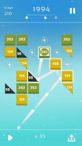 Скриншот для Bricks Breaker Quest - 3