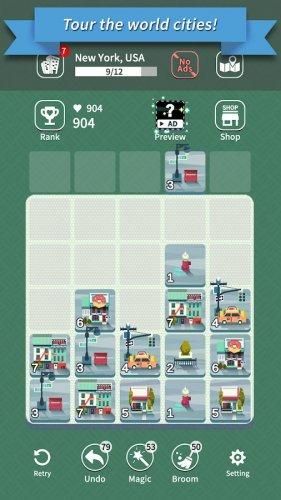 Скриншот для Age of City Tour : 2048 merge - 3