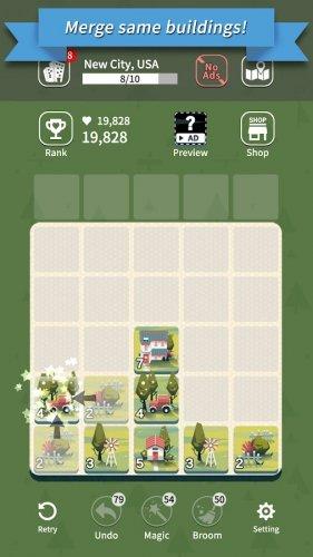 Скриншот для Age of City Tour : 2048 merge - 2