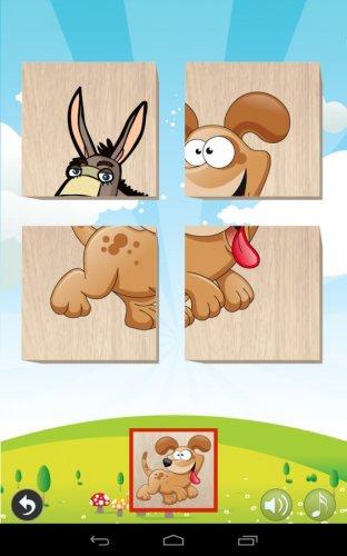 Скриншот для Animals Blocks Puzzle for kids - 1